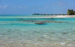 Lagoon atoll Tikehau French Polynesia Pacific Royalty Free Stock Image
