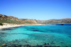 Lagoon Balos, Gramvousa, Crete, Greece Stock Photos