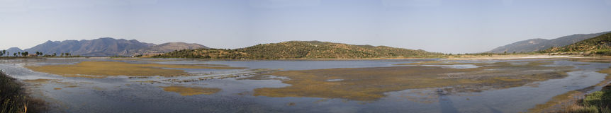 Lagoon bay in Greece. Panoramic view of lagoon bay in Greece Royalty Free Stock Photography