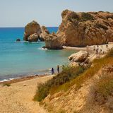 Lagoon beach in Cyprus. Wonderful beach in Cyprus Europe. A perfect holiday destination for all the family or for a friends trip.The landscape on a sunny Royalty Free Stock Photos