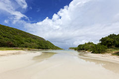 Lagoon beach at Guadeloupe Royalty Free Stock Photos
