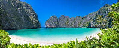 Lagoon beach paradise Stock Photography