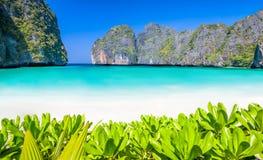 Lagoon beach paradise Stock Image