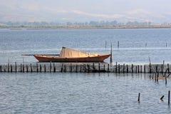 Lagoon Boat Stock Photo