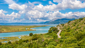 Lagoon in Butrint archeological site Royalty Free Stock Photo