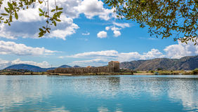 Lagoon in Butrint archeological site royalty free stock photos