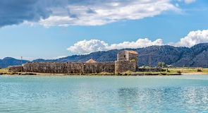 Lagoon in Butrint archeological site Royalty Free Stock Images