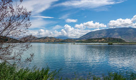 Lagoon in Butrint archeological site Royalty Free Stock Image