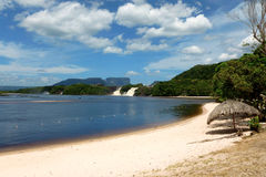 Lagoon of Canaima. Lagoon of the Canaima national park. Venezuela, South America Stock Photos