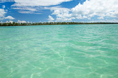 Lagoon on caribbean sea Stock Photography