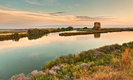 Lagoon of Comacchio, Italy Royalty Free Stock Photos