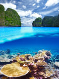 Lagoon with coral reef underwater view Stock Photo