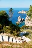 Lagoon on Corfu Stock Photos