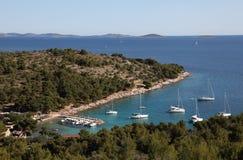 Lagoon in Croatian resort Stock Photos