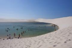 Lagoon in a desert Royalty Free Stock Photos