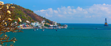 Lagoon with different fishing boats. Vung Tau is the capital of the province since the provinces founding. Royalty Free Stock Photos