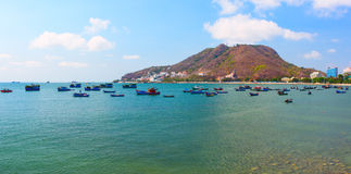 Lagoon with different fishing boats. Vung Tau province. Vietnam Stock Photography