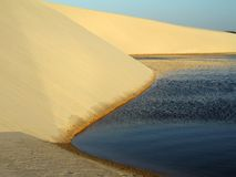 Lagoon in the dune. Lagoon with dune - National Park of the Lençois Maranhenses - Brazil Royalty Free Stock Photography