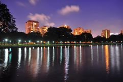 A Lagoon at East Coast Park, Singapore by evening Stock Photo