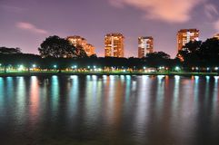 A Lagoon at East Coast Park, Singapore by night Royalty Free Stock Photography