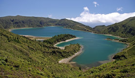 Lagoon of Fire (Azores) Royalty Free Stock Photos