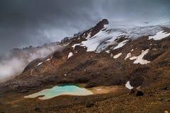 Lagoon formed by glacier. Melt by global warming, Cayambe, Ecuador Stock Photos