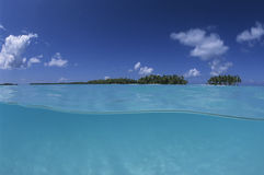 Lagoon french Polynesia Stock Images