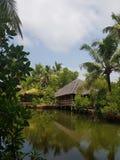 Lagoon house stock photo