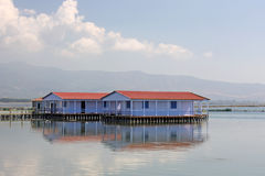 Lagoon Houses Stock Images