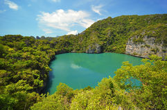 Lagoon in island at Ang Thong Island National Park Royalty Free Stock Image