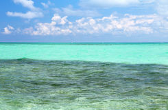 Lagoon on island Saona Royalty Free Stock Photo