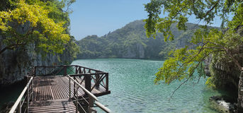The lagoon on the island in Thailand Stock Image