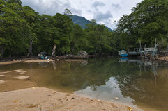 Lagoon island of Tioman Royalty Free Stock Image