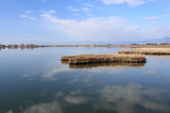 Lagoon of Lagos near to Aegean sea Royalty Free Stock Image