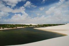 Lagoon. Lençóis Maranhenses National Park, Maranhão, Brazil. The Lençóis Maranhenses National Park (Parque Nacional dos Lençóis Maranhenses) is located in Stock Photos