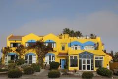 Lagoon Lodge. Colourful building Walvis Bay  Namibia Royalty Free Stock Photography