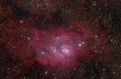 Lagoon (M8) nebula in Sagittarius constellation. Royalty Free Stock Images