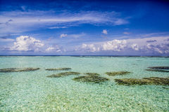 Lagoon in Maldives Royalty Free Stock Photography