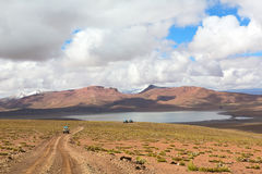Lagoon Morejon in altiplano of the andes, Bolivia Royalty Free Stock Photography