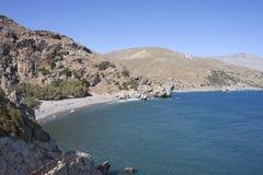 Lagoon Near Preveli, Crete Stock Image