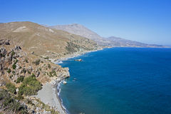 Lagoon near Preveli, Crete Royalty Free Stock Images