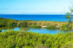 Lagoon and Ocean Royalty Free Stock Photo