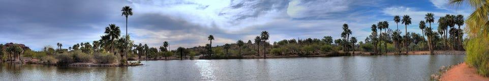 Lagoon Panorama Royalty Free Stock Image