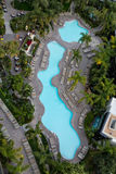 Lagoon Pool from Above Stock Photo