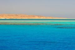 Lagoon of the Red Sea at Mahmya island. Beautiful lagoon of the Red Sea, Egypt Royalty Free Stock Images