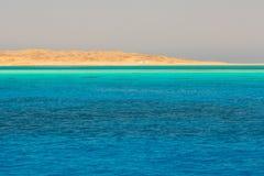 Lagoon of the Red Sea at Mahmya island. Beautiful lagoon of the Red Sea, Egypt Royalty Free Stock Photography