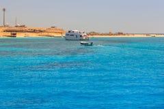 Lagoon of the Red Sea at Mahmya island. Egypt Stock Image