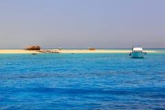 Beautiful lagoon of the Red Sea. Lagoon of the Red Sea at Mahmya island, Egypt Stock Image