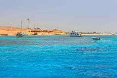 Beautiful lagoon of the Red Sea. Lagoon of the Red Sea at Mahmya island, Egypt Royalty Free Stock Photo