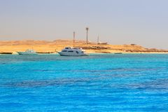 Lagoon of the Red Sea at Mahmya island. Egypt Royalty Free Stock Photography